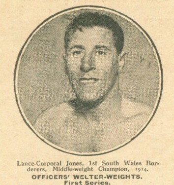 Lance-Corporal Jones, 1st South Wales Borderers, middleweight champion 1914.